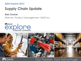 Supply Chain Update
