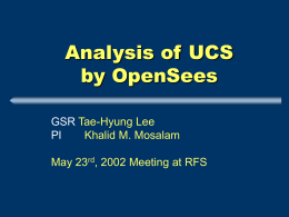 Analysis of UC Science Building by OpenSEES