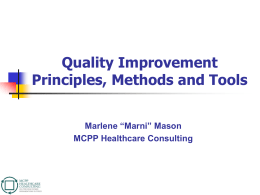 The Fundamentals of Quality Improvement