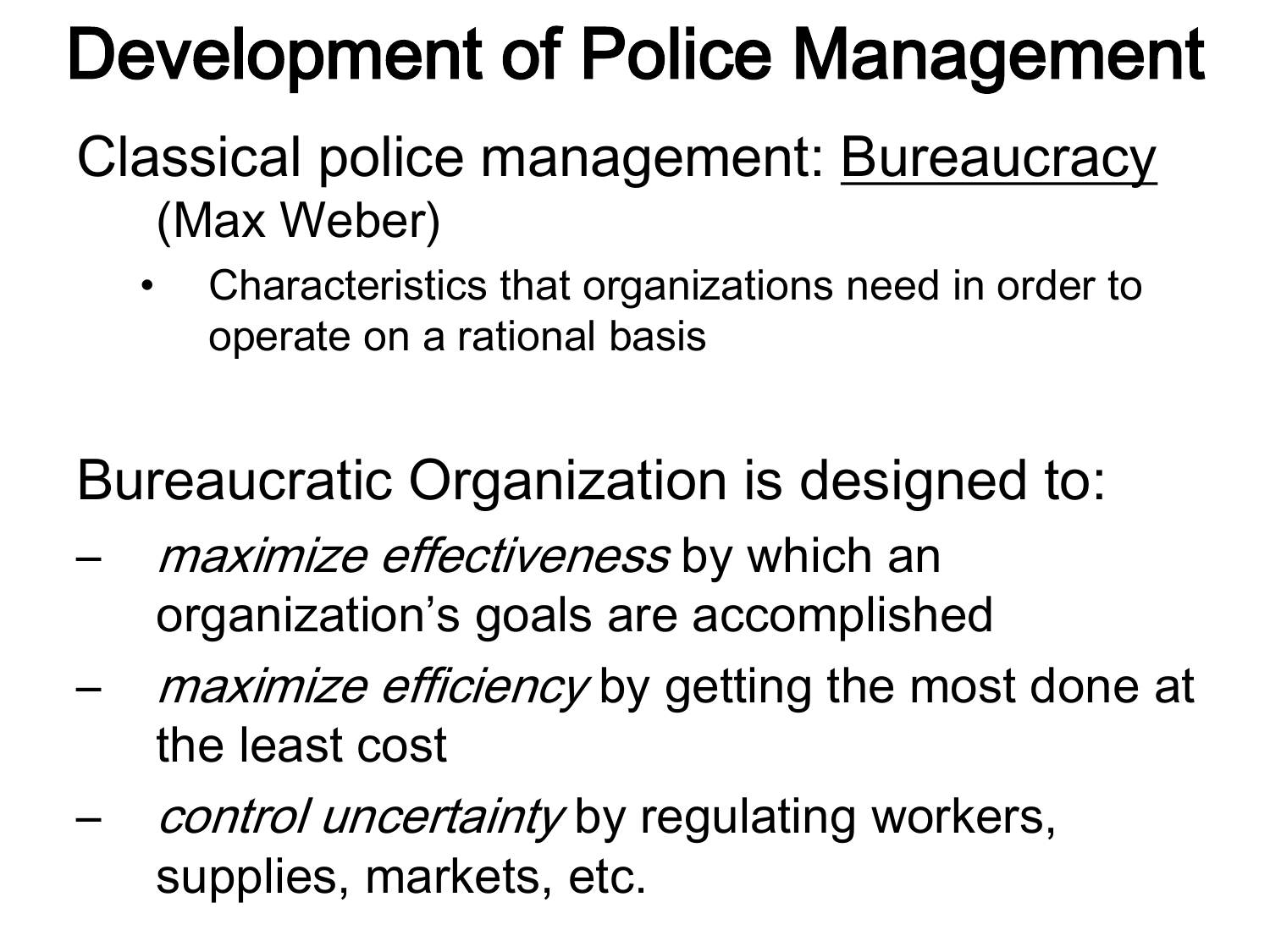 what are the characteristics of bureaucracy