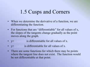 Cusps and Corners -PPT