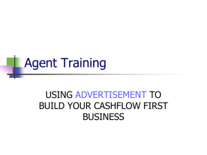 Agent Training - Cashflow First Inc