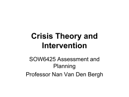 theories of crisis intervention
