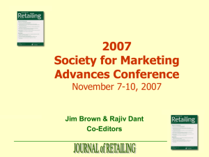 Journal of Retailing Research Agenda