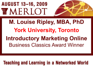 MERLOT Business Classics Award Presentation