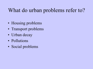 Causes of urban problems in cities of developing countries
