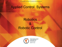 Applied Control Systems Robotics