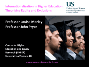 Internationalisation in Higher Education