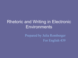 Rhetoric in Business Writing