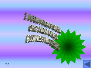 3. INFORMATION SYSTEMS, ORGANIZATIONS, & MANAGEMENT