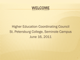 St. Petersburg College - Higher Education Coordinating Council