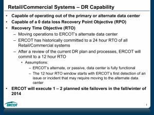 007-ERCOT Disaster Recovery Capability 070714