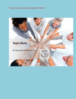 Team Building and Leadership Trust