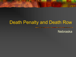 Death Penalty and Death Row