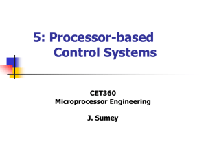 Processor-based Control Systems