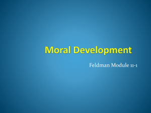 Moral Development, Values & Religion