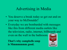 PowerPoint Presentation - Advertising in Media