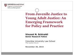 Young Adults and the Justice System – Columbia 11.30
