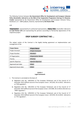 ERDF Subsidy Contract - SI