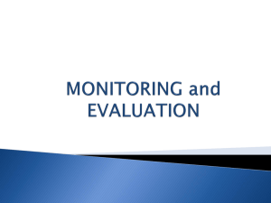 A3 Mainstreaming Monitoring & Evaluation