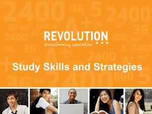 Revolution Prep's Study Skills Workshop Powerpoint Presentation
