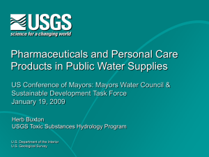 Pharmaceuticals and Personal Care Products in Public Water