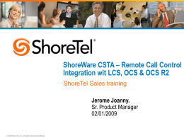 ShoreTel Corporate Template 01/09