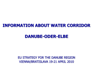 information about water corridor danube-oder-elbe