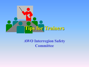 Tips for Trainers - The American Waterways Operators