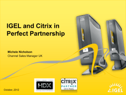 IGEL-Briefing - Thin Client Software and Hardware
