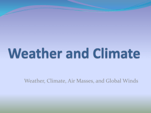 Weather and Climate Notes