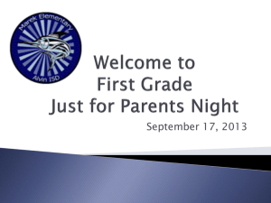 Parent Orientation Night