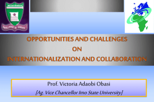 OPPORTUNITIES AND CHALLENGES ON