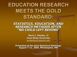 education research meets the gold standard