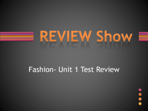 Review Game Unit 1 Test - Warren Hills Regional School District