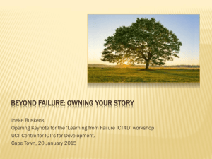 Beyond Failure: Owning your Story