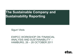 The Sustainable Company and Sustainability Reporting