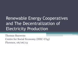 Renewable Energy Cooperatives and Techno-institutional