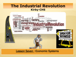 Industrial Revolution Lesson #7 - North Clackamas School District