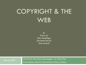 COPYRIGHT & The web
