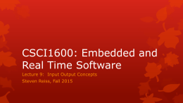 CSCI1600: Embedded and Real Time Software