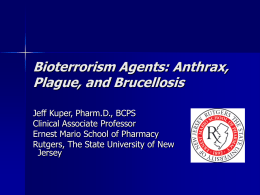 an essay on the threat of bioterrorism Former president bill clinton became engaged in the bioterrorism of medicine — bioterrorism, public health, and civil public health, and civil liberties.