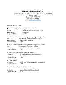 muhammad nabeel - Labour and Human Resource