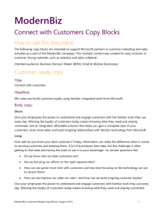 Connect With Customers: Web Copy Blocks Access business