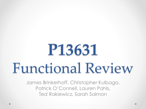 P13631 Functional Review