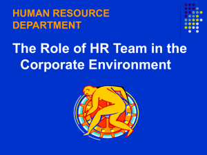 human resource department