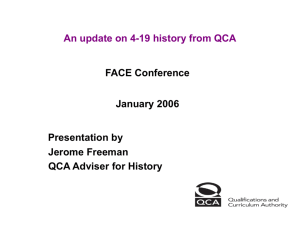 An update on 4-19 History from QCA