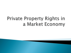 Private Property Rights in a Market Economy