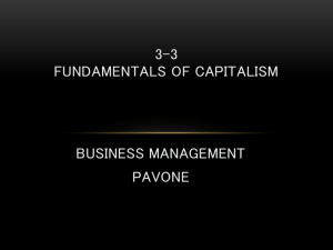 3-3 Fundamentals of Capitalism