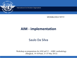Aeronautical Information management (AIM)